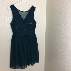 Teal/Green Sequined Dress